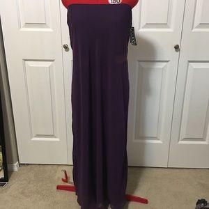 NEW Alex Evening purple strapless gown